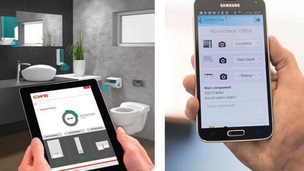 links – Per App und Webportal bleiben Spenderfüllstände stets im Blick. rechts – Smartview von Diversey: Dient dem Abbilden der Reinigungsprozesse in einem Objekt, sowie deren Kontrolle und Qualitätsmanagement. Das System ist modular und wird an die jeweiligen Kundenbedürfnisse angepasst.