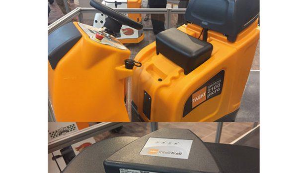 TASKI swingo 2100μicro, ausgestattet mit dem Nachverfolgungs- und Managementsystem TASKI IntelliTrail